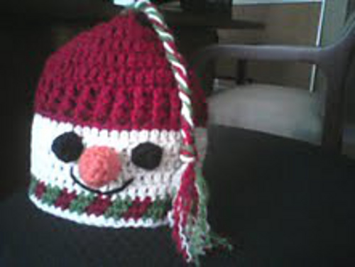 Gallery For > Crochet Snowman Hat Pattern