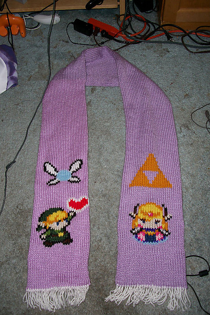 Legend Of Zelda Knitting Pattern : Leah s knits legend of zelda scarf