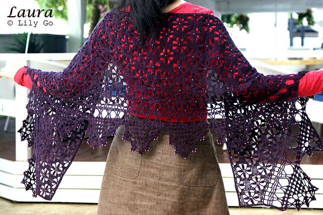 Lilygo Laura Shawl Crochet Pattern And Kit For Sale
