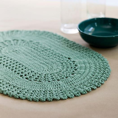 Round Table Placemats Crocheted Patterns Pinterest ...